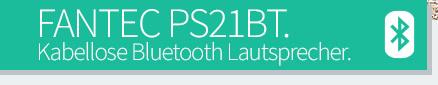 FANTEC PS21BT - Bluetooth Lautsprecher