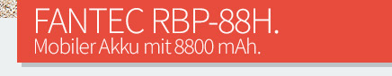 FANTEC RBP-88H - Mobiler Akku